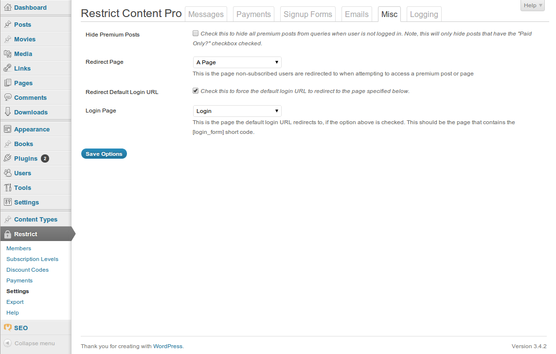 Hide Wp-login.php With Restrict Content Pro