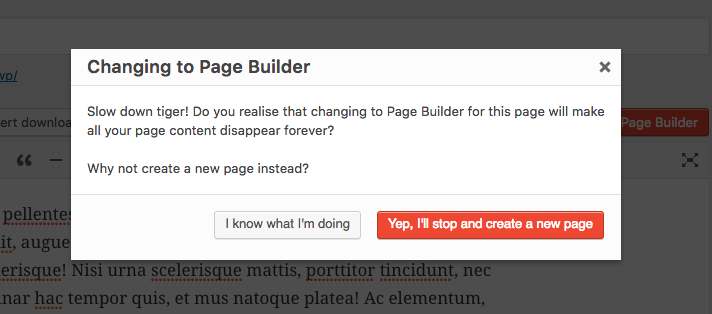 Pootle Page Builder warning