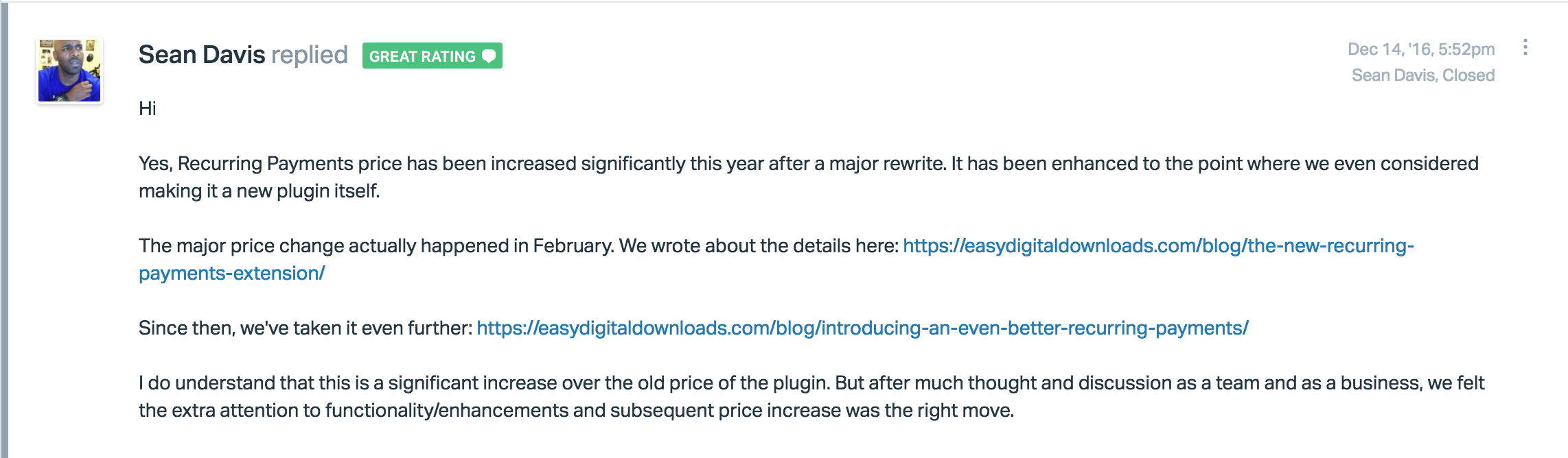 Reflection on a price increase pippins plugins awesome thanks for the explanation ill look forward to exploring the features spiritdancerdesigns Image collections